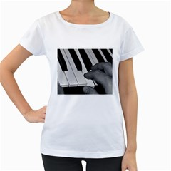 The Piano Player Women s Loose-Fit T-Shirt (White)