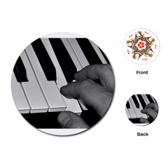 The Piano Player Playing Cards (round)