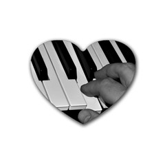 The Piano Player Rubber Coaster (heart)