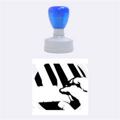 The Piano Player Rubber Round Stamps (Medium)