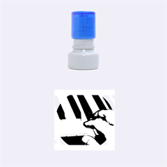 The Piano Player Rubber Round Stamps (small)