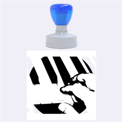 The Piano Player Rubber Round Stamps (Large)