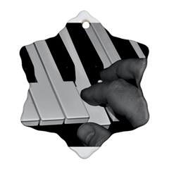 The Piano Player Snowflake Ornament (2-Side)