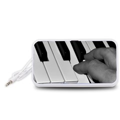 The Piano Player Portable Speaker (White)