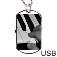 The Piano Player Dog Tag USB Flash (Two Sides)