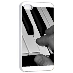 The Piano Player Apple iPhone 4/4s Seamless Case (White)