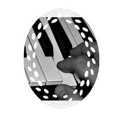 The Piano Player Ornament (Oval Filigree)