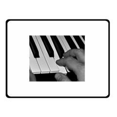 The Piano Player Double Sided Fleece Blanket (small)
