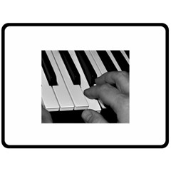 The Piano Player Double Sided Fleece Blanket (Large)