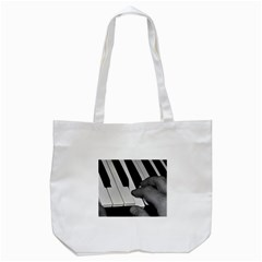 The Piano Player Tote Bag (White)