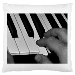 The Piano Player Large Flano Cushion Cases (One Side)