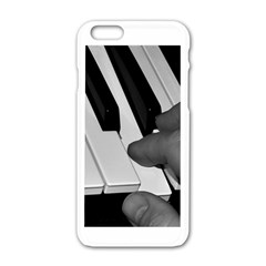 The Piano Player Apple Iphone 6 White Enamel Case
