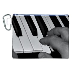 The Piano Player Canvas Cosmetic Bag (xxl)