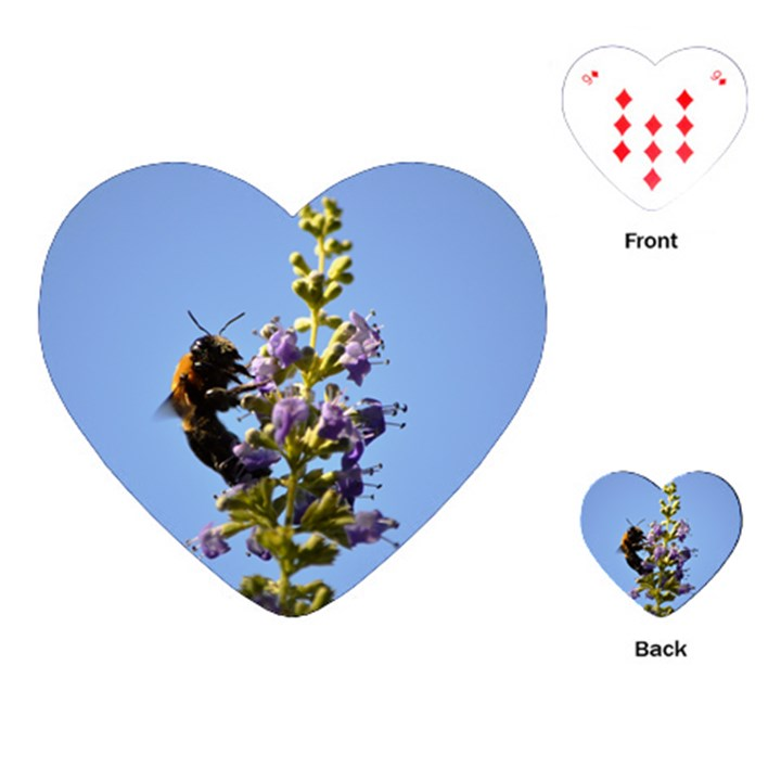 Bumble Bee 1 Playing Cards (Heart)