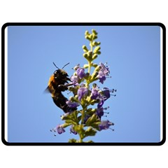 Bumble Bee 1 Fleece Blanket (large)