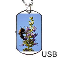 Bumble Bee 1 Dog Tag USB Flash (One Side)