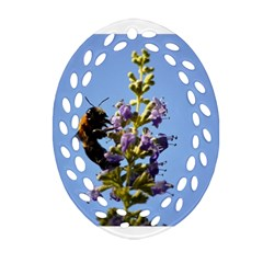 Bumble Bee 1 Oval Filigree Ornament (2-Side)