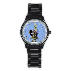 Bumble Bee 1 Stainless Steel Round Watches