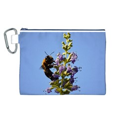 Bumble Bee 1 Canvas Cosmetic Bag (L)