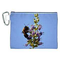 Bumble Bee 1 Canvas Cosmetic Bag (XXL)