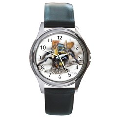 Bumble Bee 2 Round Metal Watches