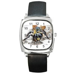 Bumble Bee 2 Square Metal Watches