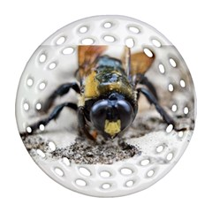 Bumble Bee 2 Round Filigree Ornament (2side)