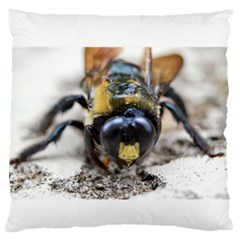 Bumble Bee 2 Large Flano Cushion Cases (Two Sides)