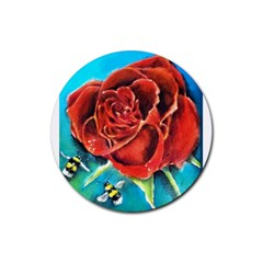 Bumble Bee 3 Rubber Coaster (round)