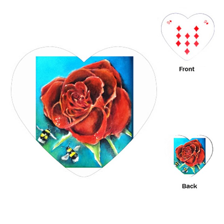 Bumble Bee 3 Playing Cards (Heart)