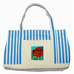 Bumble Bee 3 Striped Blue Tote Bag