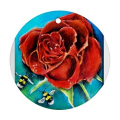Bumble Bee 3 Round Ornament (two Sides)