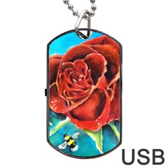 Bumble Bee 3 Dog Tag USB Flash (Two Sides)