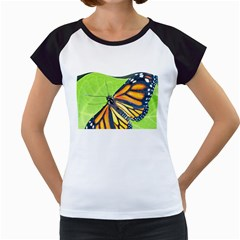 Butterfly 2 Women s Cap Sleeve T