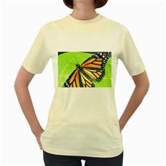 Butterfly 2 Women s Yellow T-Shirt