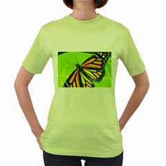 Butterfly 2 Women s Green T Shirt