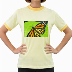 Butterfly 2 Women s Fitted Ringer T-Shirts