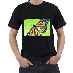 Butterfly 2 Men s T-Shirt (Black) (Two Sided)