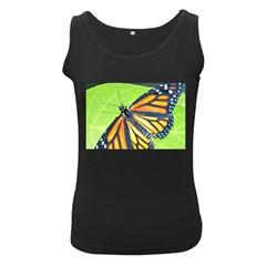 Butterfly 2 Women s Black Tank Tops