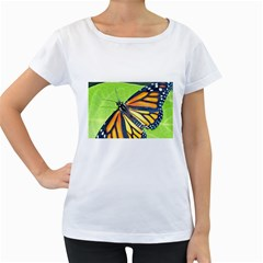 Butterfly 2 Women s Loose-Fit T-Shirt (White)