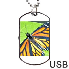 Butterfly 2 Dog Tag USB Flash (One Side)