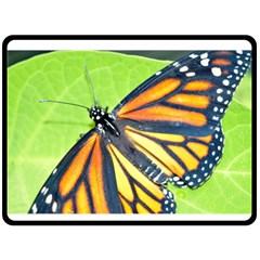 Butterfly 2 Double Sided Fleece Blanket (large)