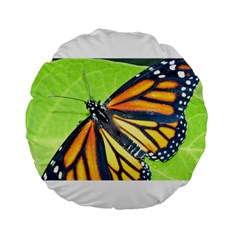 Butterfly 2 Standard 15  Premium Flano Round Cushions