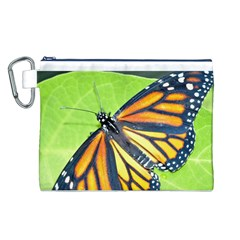 Butterfly 2 Canvas Cosmetic Bag (L)