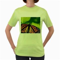 Butterfly 3 Women s Green T-Shirt