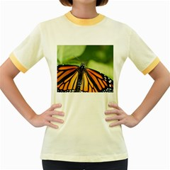 Butterfly 3 Women s Fitted Ringer T-Shirts