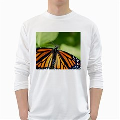 Butterfly 3 White Long Sleeve T-Shirts