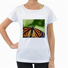 Butterfly 3 Women s Loose Fit T Shirt (white)