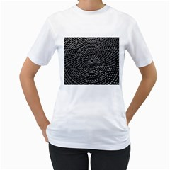 Spinning Out Of Control Women s T Shirt (white) (two Sided)