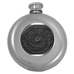 Spinning Out Of Control Round Hip Flask (5 Oz)